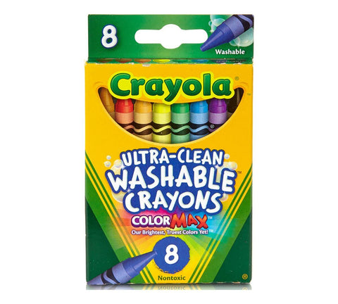 8 ct. Ultra-Clean Washable Crayons - Regular Size