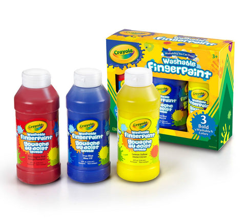 Crayola - Washable Fingerpaint: 3 Bright Colors (3 Bottles/8 oz)