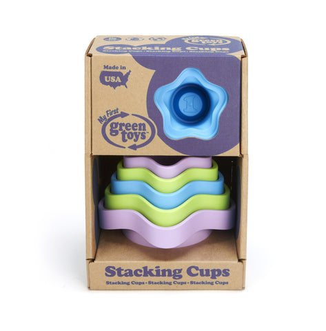 Green Toys Stacking Cups - Finnegan's Toys & Gifts - 1