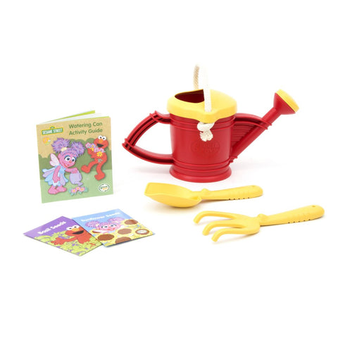 Green Toys Elmo Watering Can Outdoor Activity Set