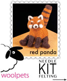 Needle Felting Kit - Red Panda
