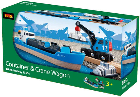 BRIO 33534 Container Freight Ship and Crane