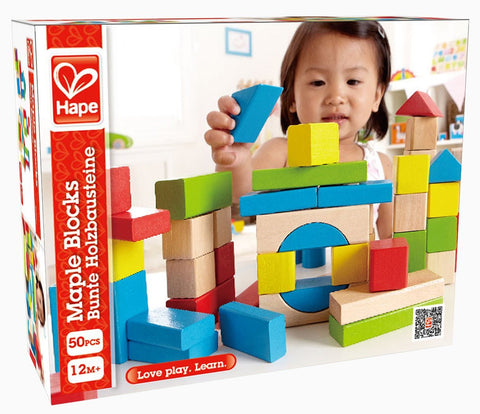 Hape Maple Wood Building Blocks - Finnegan's Toys & Gifts - 1