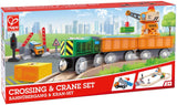 Crossing & Crane Wooden Railway Set