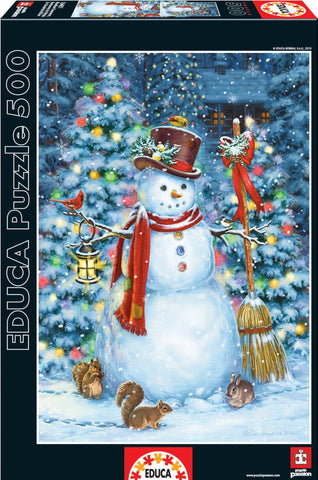 Snowman - 500 Piece Puzzle - Finnegan's Toys & Gifts