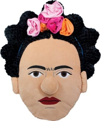Frida Kahlo Stuffed Portrait Pillow
