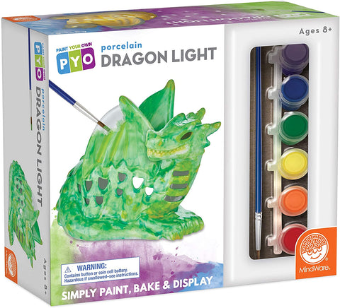 Paint Your Own Porcelain Dragon Light