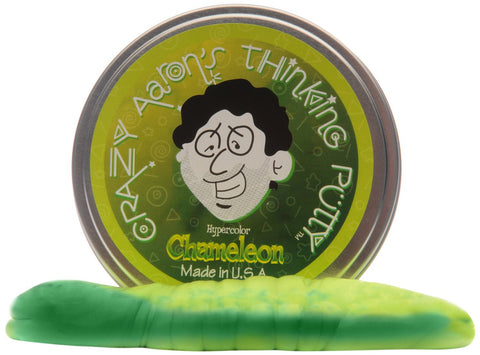 Crazy Aaron's Thinking Putty - Chameleon Heat Sensitive Hypercolor 4'' Tin - Finnegan's Toys & Gifts