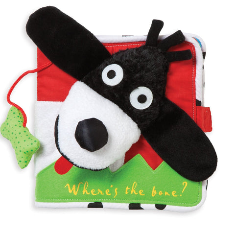 Where's the Bone? Soft Fabric Activity Book - Finnegan's Toys & Gifts
