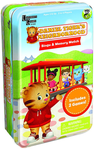 Daniel Tiger's Neighborhood Time for School Game Tin
