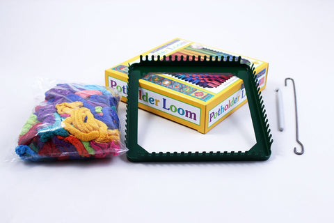 Metal Potholder Loom with Metal Hoops - Finnegan's Toys & Gifts