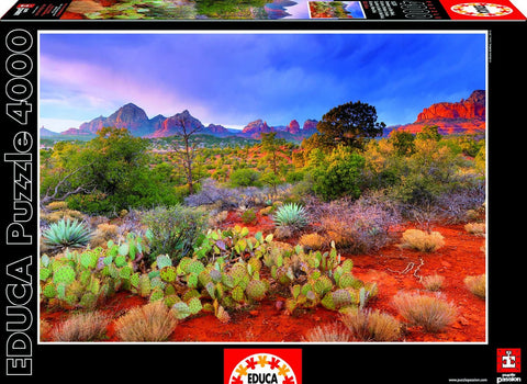 Red Rock Dusk, Arizona - 4000 Piece Puzzle - Finnegan's Toys & Gifts
