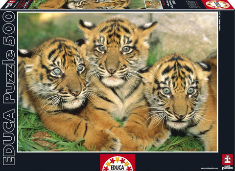Tiger Cubs - 500 Piece Puzzle - Finnegan's Toys & Gifts