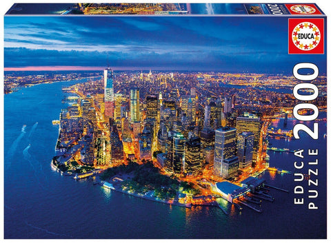 New York, Aerial view - 2000 Piece Puzzle - Finnegan's Toys & Gifts