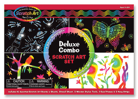 Deluxe Combo Scratch Art Set - Finnegan's Toys & Gifts