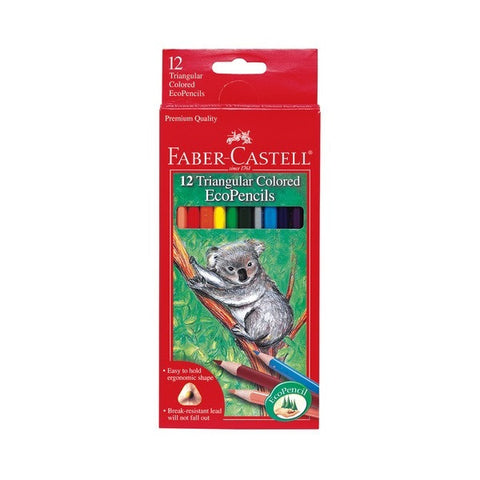 Faber-Castell Triangular Colored EcoPencils - 12 Colors - Finnegan's Toys & Gifts