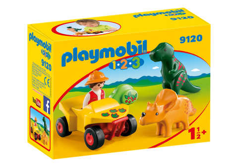 Playmobil 1.2.3 9120 - Explorer with Dinos