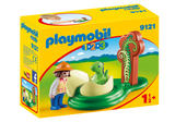 Playmobil 1.2.3 9121 - Girl with Dino Egg