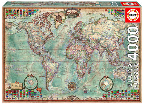 World Executive Map - 4000 Piece Puzzle - Finnegan's Toys & Gifts