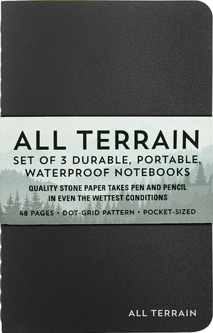 All Terrain Set of 3 Waterproof Notebooks