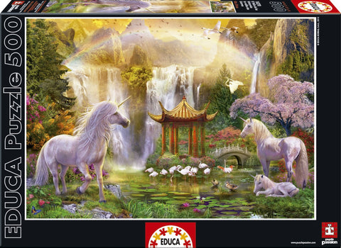 Unicorn Valley of the Waterfalls - 500 Piece Puzzle - Finnegan's Toys & Gifts