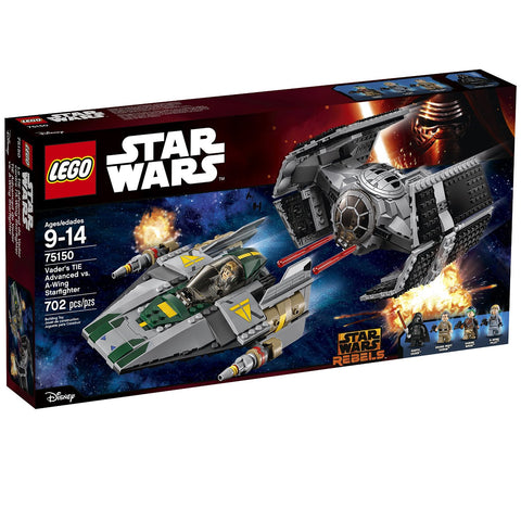 Lego SW 75150 Vaders TIE Advanced vs. A-Wing Starfigher - Finnegan's Toys & Gifts