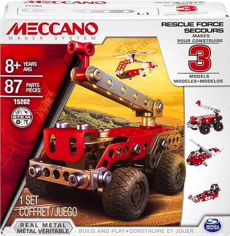 Meccano Rescue Squad 3 Model Set- Erector