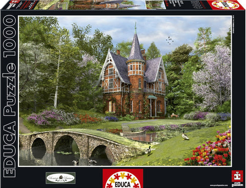Cobbled Bridge Cottage - 1000 Piece Puzzle - Finnegan's Toys & Gifts