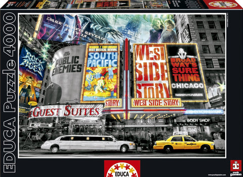 New York Theatre Signs - 4000 Piece Puzzle
