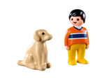 Playmobil 1.2.3 9256 - Man with Dog