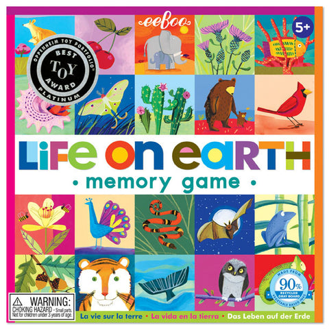 Life On Earth Square Matching Game Euro - Finnegan's Toys & Gifts