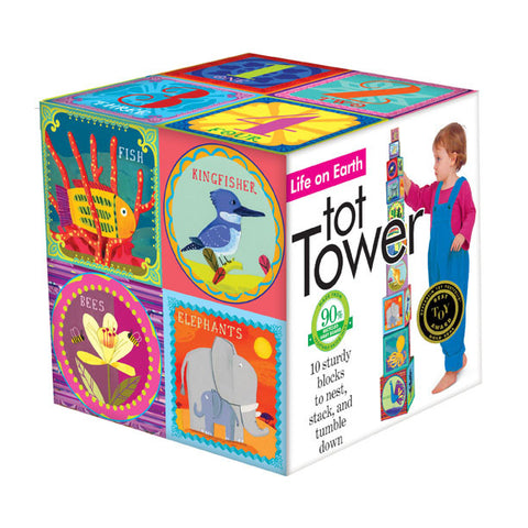 Life On Earth Tot Tower - Stacking Blocks - Finnegan's Toys & Gifts