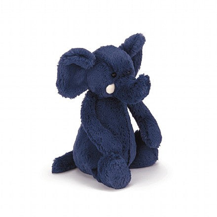 "Jellycat - Bashful Blue Elephant Medium 12"" Plush - Finnegan's Toys & Gifts"