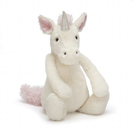 "Jellycat - Bashful Unicorn Medium 12"" Plush - Finnegan's Toys & Gifts"
