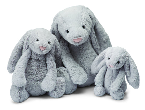 Jellycat Bashful Grey Bunny Medium 12'' - Finnegan's Toys & Gifts