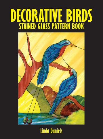 Decorative Birds Stained Glass Coloring Book