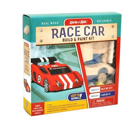 Buildable Wood Paint Kit - Race Car