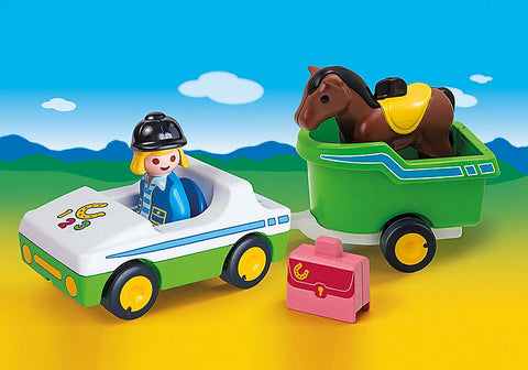 Playmobil 123 70181 Car with Horse Trailer