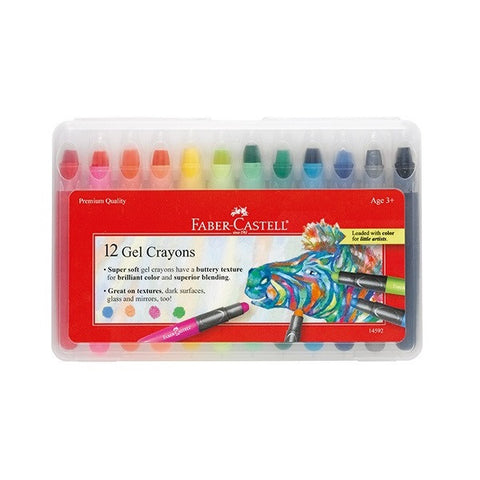 Faber-Castell 12 Gel Crayons - 12 Colors - Finnegan's Toys & Gifts