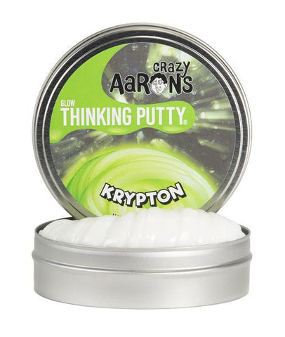 Crazy Aaron's Thinking Putty - Krypton Glow In The Dark 4'' Tin
