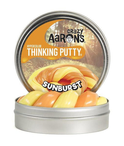 "Crazy Aaron's Thinking Putty - Sunburst Hypercolors 4"" Tin"