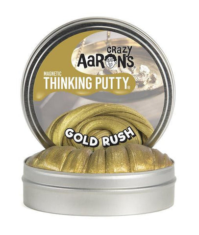 "Crazy Aaron's Thinking Putty - Gold Rush Magnetics 4"" Tin"