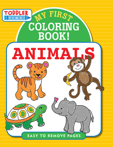 My First Coloring Book: Animals