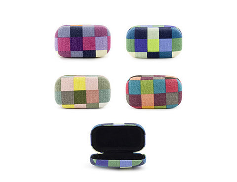 Earphone Travel Case - Plaid (Assorted Colors)