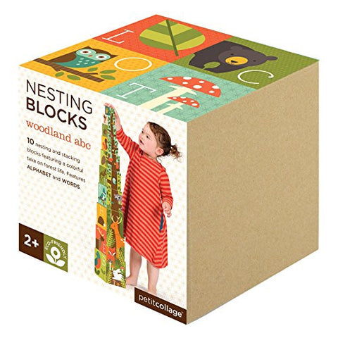 Woodlands ABC Nesting Blocks - Finnegan's Toys & Gifts