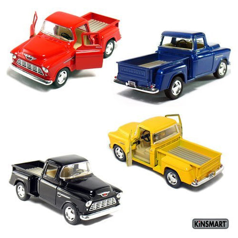 1955 Chevy Stepside Truck Diecast Pull Back