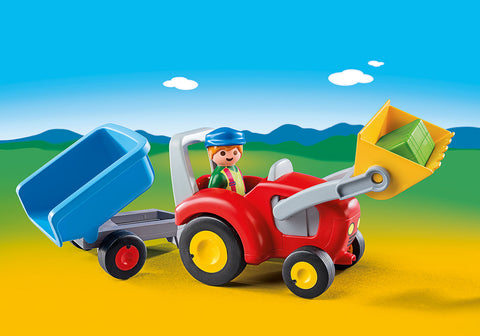 Playmobil 1.2.3 6964 - Tractor with Trailer