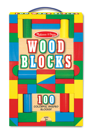 100 Wood Blocks Set - Finnegan's Toys & Gifts
