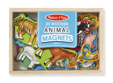 Wooden Animal Magnets - 20 Pieces - Finnegan's Toys & Gifts - 1