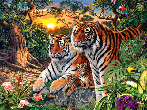 Hidden Images Glow In The Dark - Jungle Pride 550pc Puzzle
